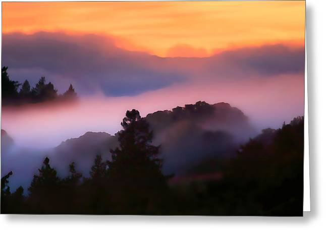 Fog Rolls In From The Ocean Greeting Card by Wernher Krutein