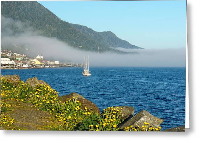 Fog Rolls In Greeting Card by Karen Horn