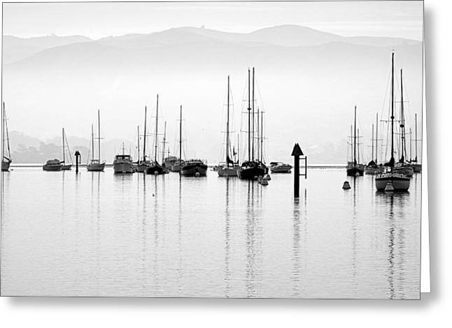 Fog Settles On Morro Bay Greeting Card