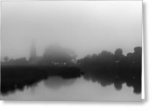 Fogged In Saint Mark's Lighthouse Greeting Card