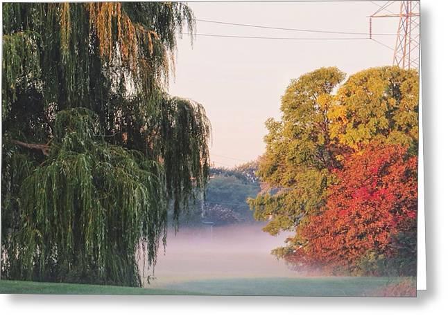Foggy Autumn Greeting Card by Nikki McInnes