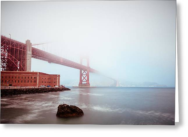 Foggy Bay Greeting Card