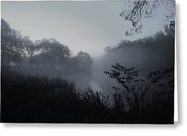 Foggy Dawn - Holmdel Park Greeting Card