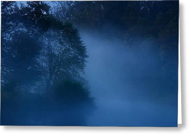 Foggy Dawn IIi- Holmdel Park Greeting Card by Angie Tirado