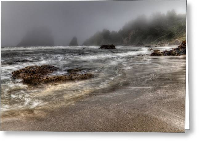 Foggy Day At Trinidad Greeting Card