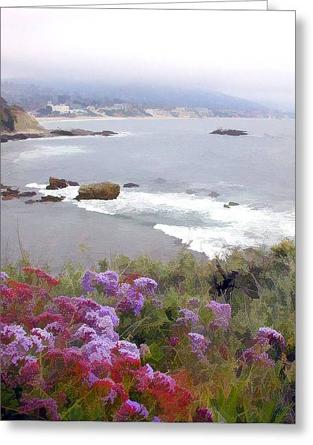 Foggy Day In Laguna Beach Greeting Card by Elaine Plesser