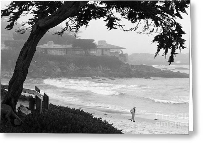 Foggy Day On Carmel Beach Greeting Card