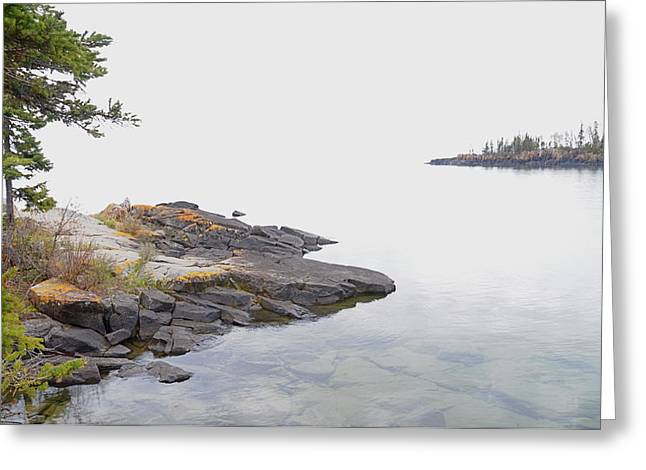 Foggy Day On Lake Superior 2 Greeting Card by Sandra Updyke