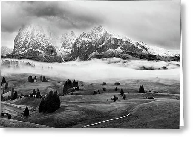 Foggy Dolomites Greeting Card by Marian Kuric