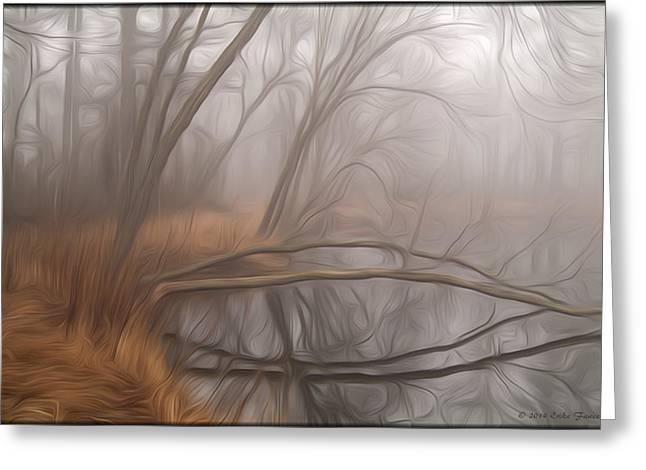 Foggy Fall Morning Greeting Card