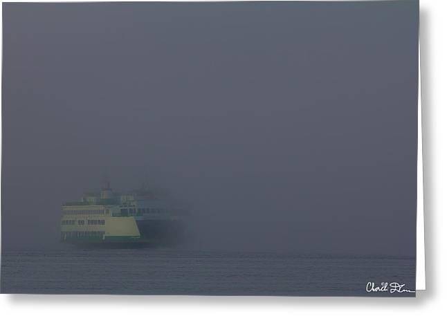 Foggy Ferry Ride Greeting Card
