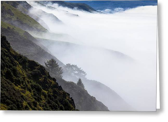 Foggy Hillside Greeting Card by Garry Gay