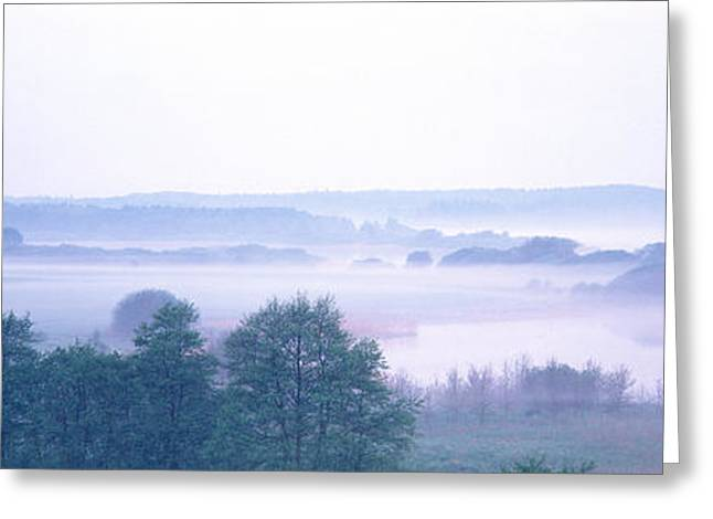 Foggy Landscape Northern Germany Greeting Card by Panoramic Images