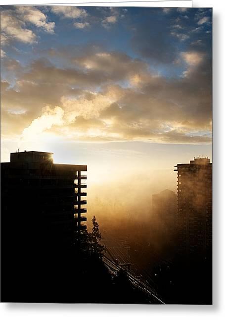 Foggy Morn Greeting Card by Lisa Knechtel
