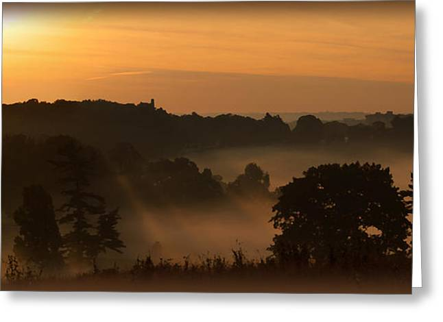 Foggy Morning At Valley Forge Greeting Card