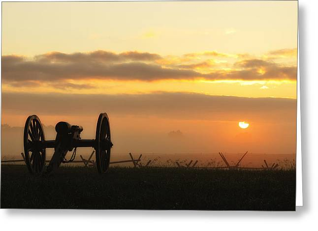 Foggy Morning Battlefield Greeting Card