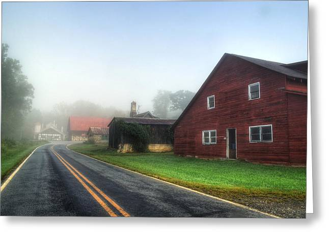 Foggy Morning In Brasstown Nc Greeting Card