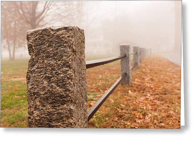 Foggy Morning In Ellington Greeting Card
