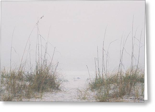 Greeting Card featuring the photograph Foggy Morning by Michele Kaiser