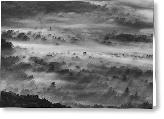 Foggy Morning On The Blue Ridge Parkway Greeting Card