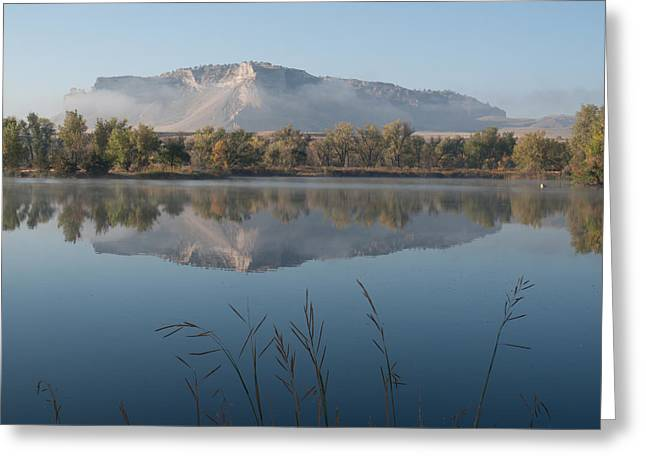 Foggy Morning - Scottsbluff Monument Greeting Card