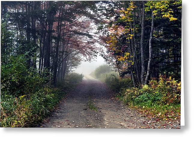 Foggy Morning - Stowe Vermont Greeting Card