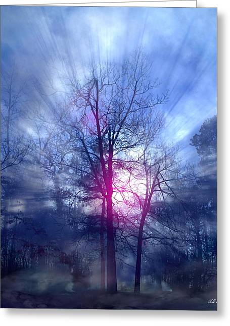 Foggy Morning Sunrise Greeting Card by Bill Stephens