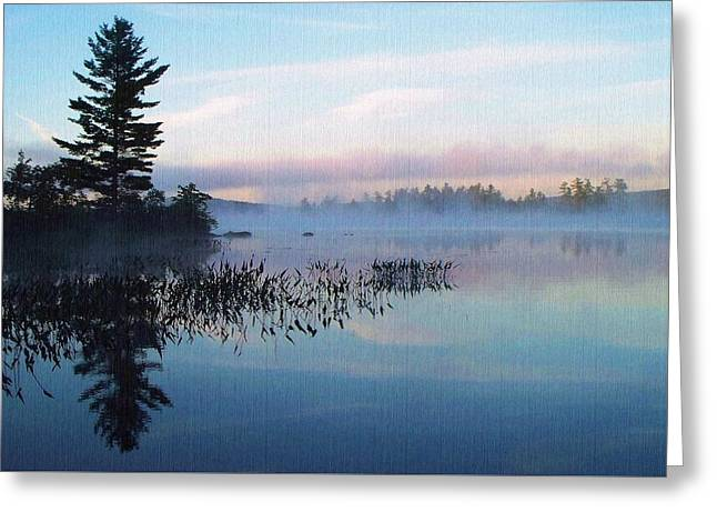 Foggy Morning's Chill -- On Parker Pond Greeting Card