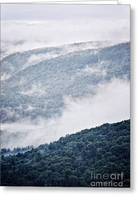 Foggy Mountainscape Greeting Card