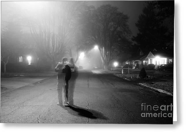 Foggy Night Greeting Card