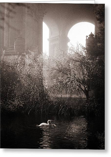 Foggy Palace 1 Greeting Card by SFPhotoStore