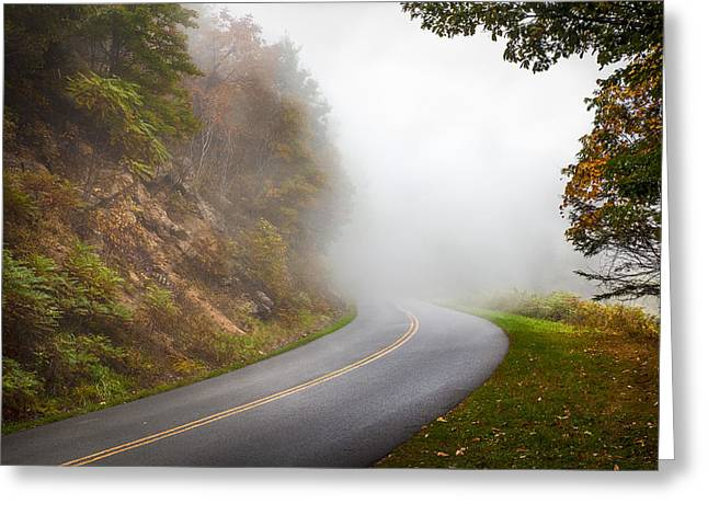 Foggy Parkway Greeting Card