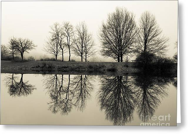 Foggy Reflections Greeting Card
