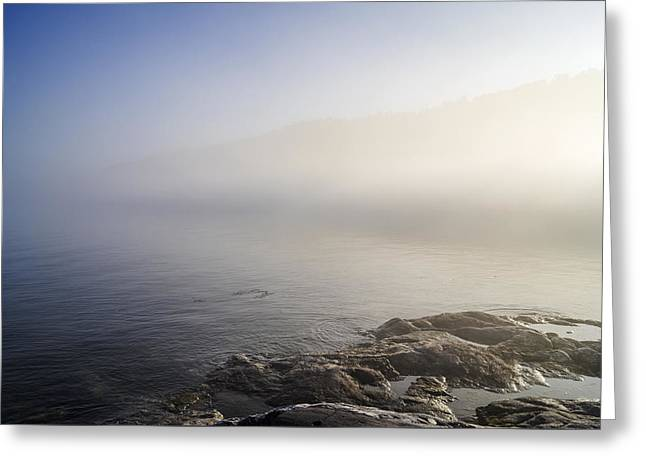 Greeting Card featuring the photograph Foggy Seashore by Arkady Kunysz