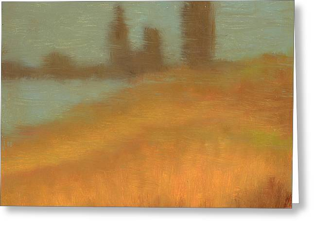 Foggy Skyline From Felixs Greeting Card by Vernon Reinike