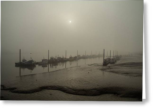 Foggy Sunset On River Medway Greeting Card by Dawn OConnor