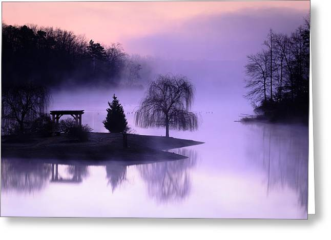 Foggy Twilight Greeting Card by Thomas Pettengill