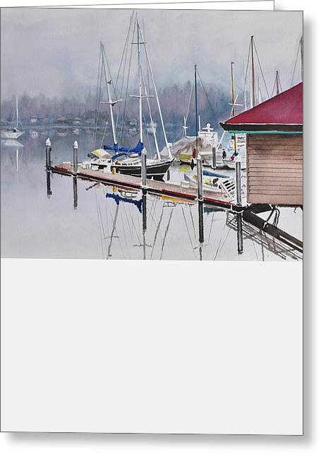 Foggy Dock Greeting Card