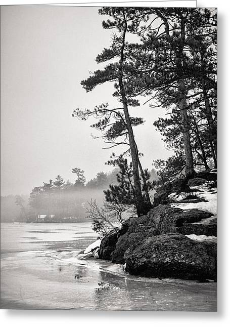 Foggy Winnisquam Greeting Card