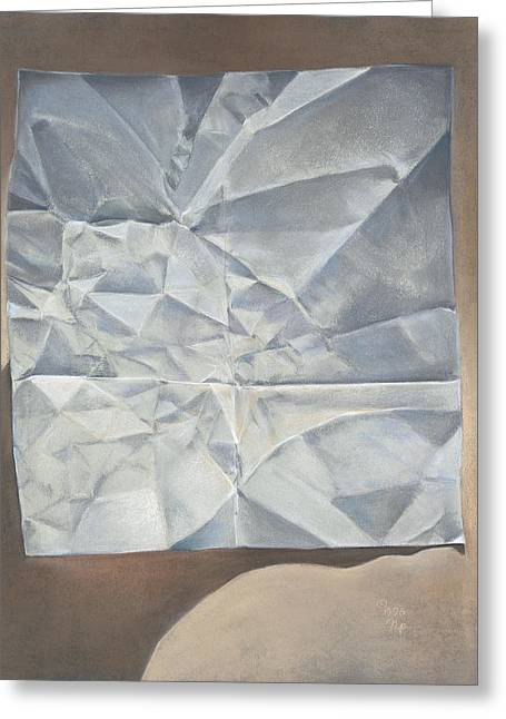 Folded Paper Greeting Card by Nick Payne
