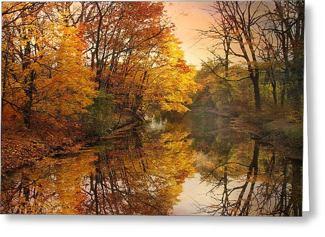 Foliage Reflected Greeting Card by Jessica Jenney