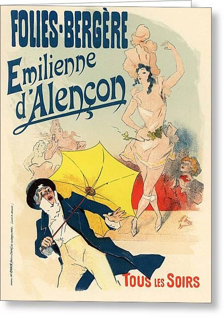 Folies Bergere Emilienne D'alencon Greeting Card