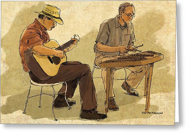 Folk Musicians Greeting Card