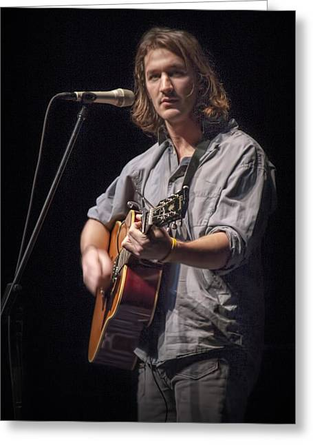 Folk Singer Griffen House Greeting Card by Randall Nyhof