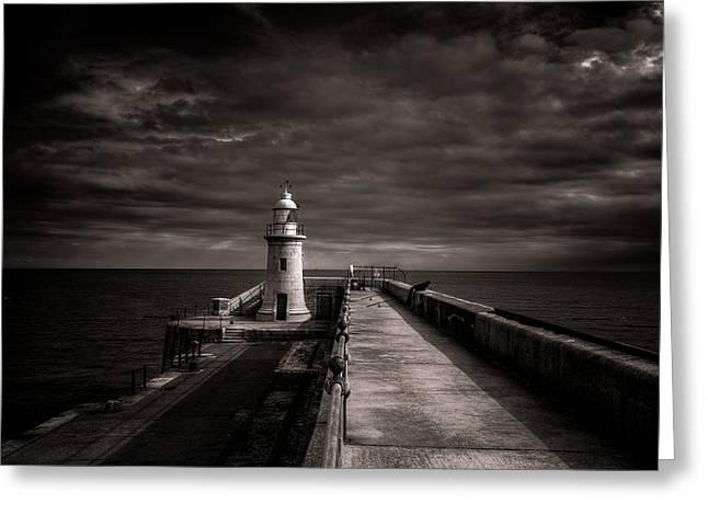 Folkestone Lighthouse Greeting Card