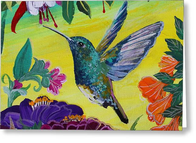 Follow Me Greeting Card by Robin Maria Pedrero