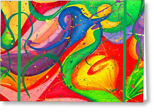 Follow Me Triptych Greeting Card by Julia Fine Art And Photography