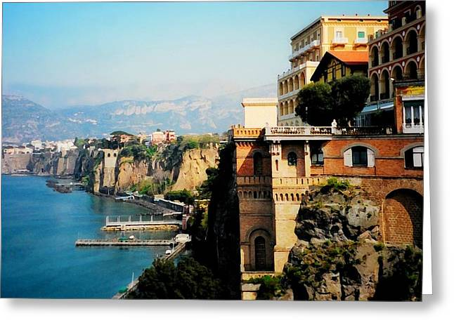 Follow My Heart To Sorrento Greeting Card by Diana Angstadt