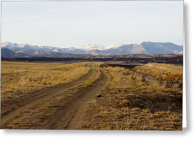 Follow That Road Greeting Card by Dana Moyer