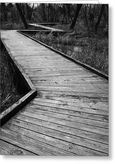 Follow The Boardwalk Greeting Card by Robert Clayton